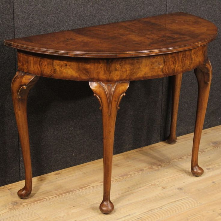 900u20ac English Half Moon Console Table #antiques #antiquariato #furniture  #console #