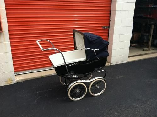 Vintage Marmet 1960 S Navy Blue Baby Carriage Stroller