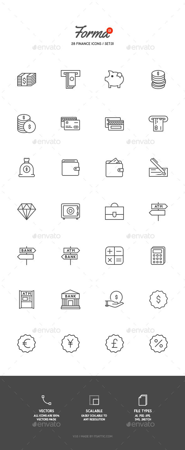 28 Finance Icons #design Download: http://graphicriver.net/item/28-finance-icons/13042463?ref=ksioks