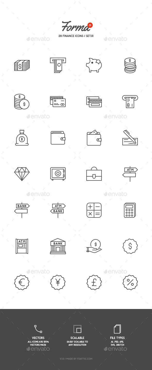 28 Finance Icons #design Download: http://graphicriver.net/item/28-finance-icons/13042463?ref=ksioks