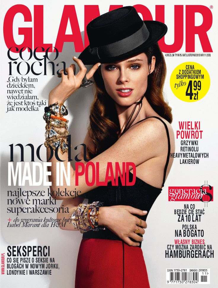 Coco Rocha at GLAMOUR POLAND cover - november issue <3