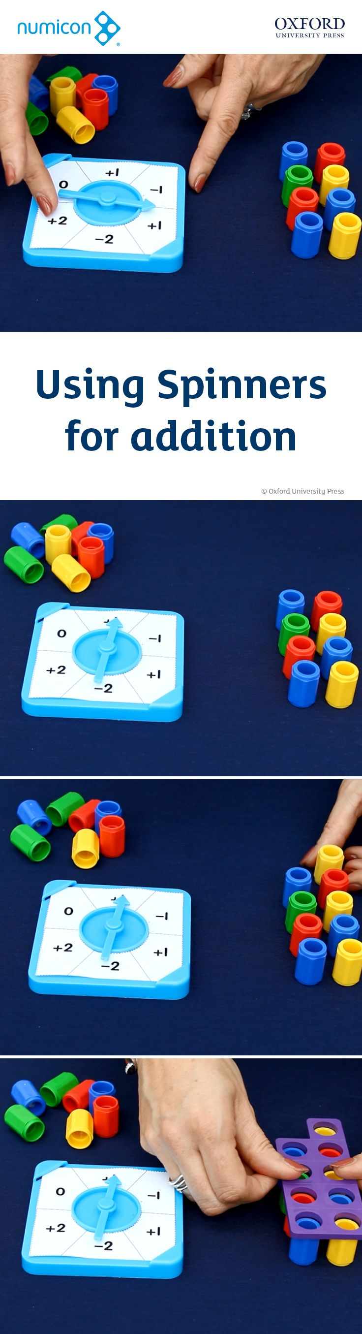 Video: How to use the Numicon Spinners for addition. Find out more about Manipulatives at www.oxfordprimary.co.uk/manipulatives. Explore and purchase Numicon resources at www.oxfordprimary.co.uk/numicon. #numicon