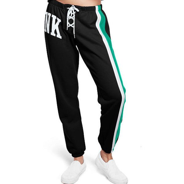 Sweatpants Joggers ($50) ❤ liked on Polyvore featuring activewear, activewear pants, victoria's secret, skinny leg sweatpants, victoria secret sweatpants, victoria secret sportswear and skinny sweat pants