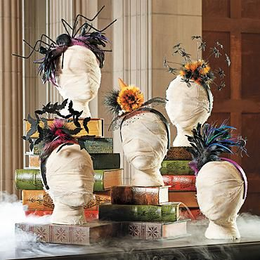 A stylish collection Halloween Headbands from Grandin Road.  No need to muss your hair with these! Halloween Fashionista Fabulous Witches Theme Party & Decorating Ideas