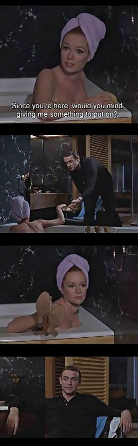 """Luciana Paluzzi, Sean Connery, """"Thunderball"""""""