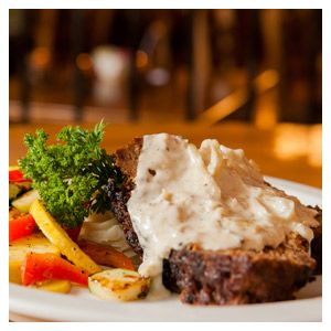 Irish Meatloaf with Cabbage Cream Sauce at Kitty Hoynes Irish Pub and Restaurant - Syracuse, New York