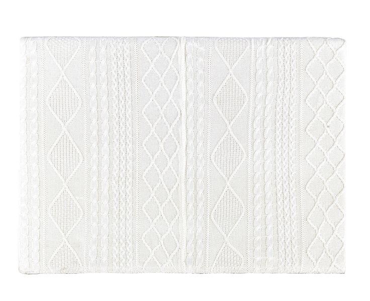 T�te de lit 160 en tissu tricot� grise Tricot