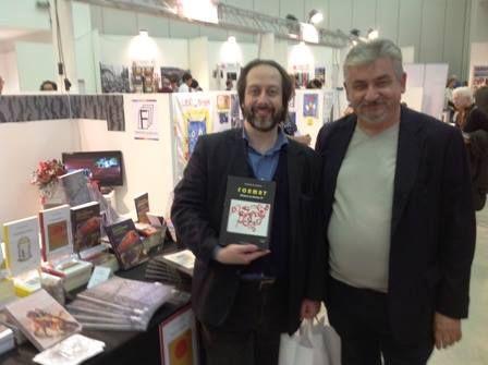 La visita tradizionale e consueta dell'amico giornalista e critico letterario, mediatore editoriale, Carlo Giorgetti, qui in compagnia dello scrittore Fabrizio de Sanctis per il lancio promozionale del suo primo libro, FORMAT.