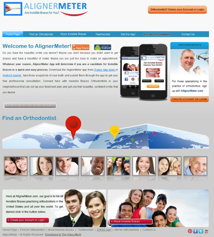 Alignermeter is online search portal for licensed dental professionals, who provide services related to implementation of invisible braces. Desktop and Mobile website is developed using core php.