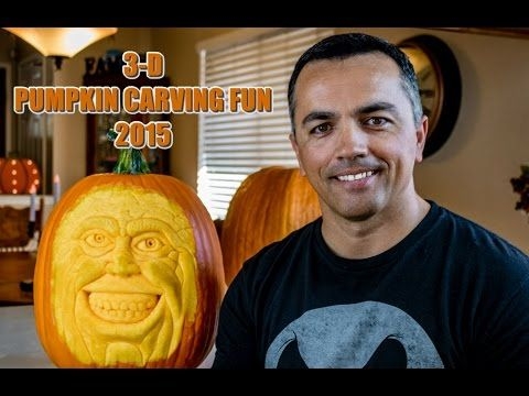 3D Pumpkin Carving Fun 2015 - YouTube