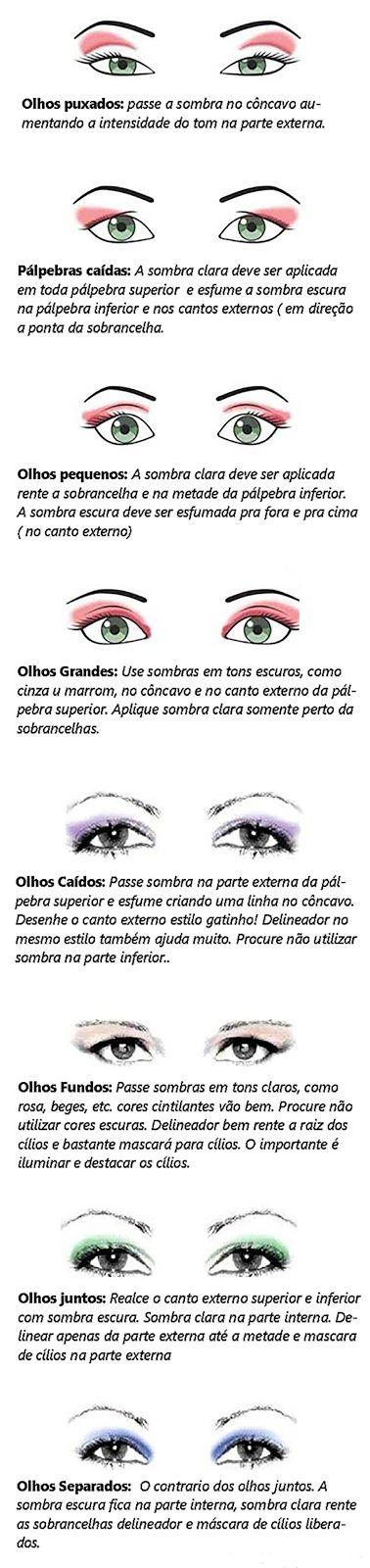 Algum Tempo Atrás   Moda, Maquiagem, Comportamento e mais: Dica de maquiagem para cada tipo de olho
