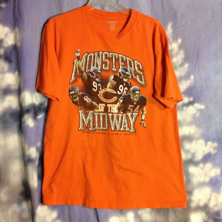 Monsters of the Midway Chicago Bears t shirt size M Reebok orange L #Reebok #ChicagoBears