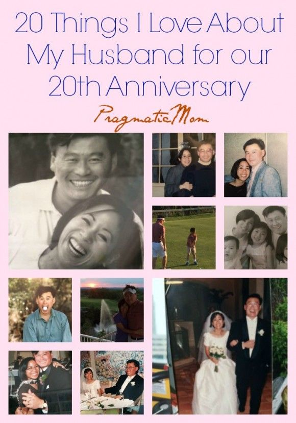 Happy 20th Anniversary to My Husband (and 20 things I love about my husband) :: PragmaticMom