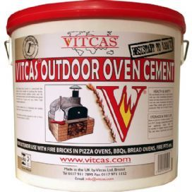 Vitcas Outdoor Oven Cement for Pizza Ovens,BBQs,Bread Ovens & Fire Pits