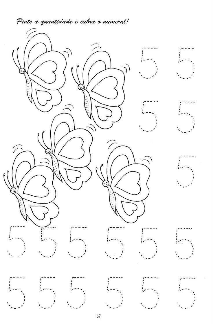 NUMERO+5+PARA+COLORIR+E+COBRIR.jpg (1055×1600)
