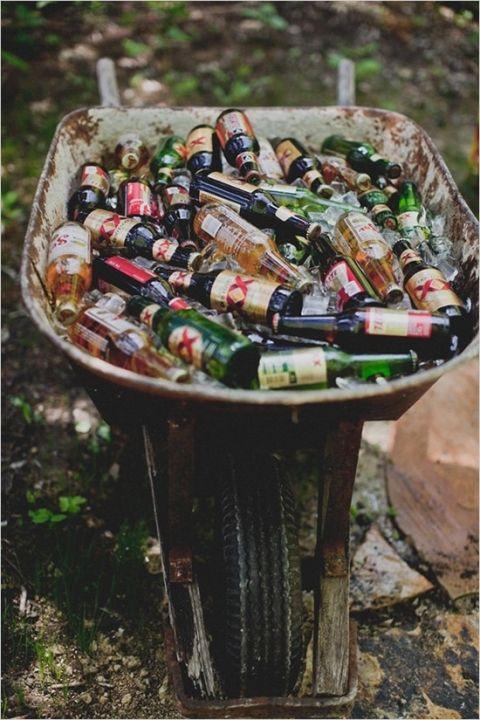 Beverages - wheel barrow w/ ice