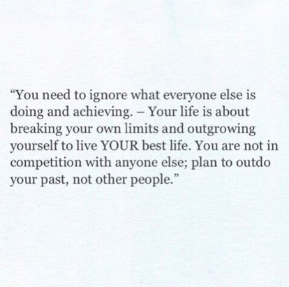 Desperately need to keep reminding myself of this. It's ok to go at my own pace & take my time