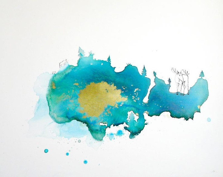 """""""Elg i solnedgang"""" by Silvia Ilona Klatt"""