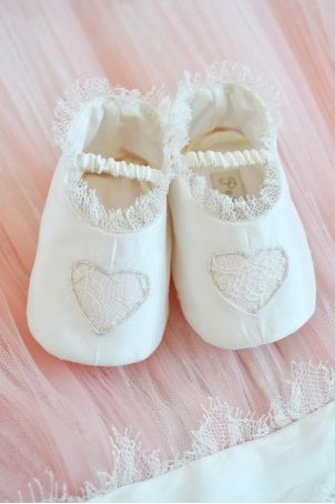 """Sweet bootees for cute baby girls, matching the """"Cupcake"""" dress."""