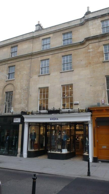 Gorgeous shop front of the original Brora store in Bath.