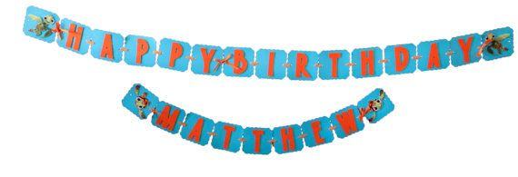 Squirt from Finding Nemo Happy Birthday Banner - Disney Baby Shower sea turtle turtle