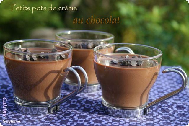 Pots de crème au chocolat (recette de Jamie Oliver) sans cuisson au four