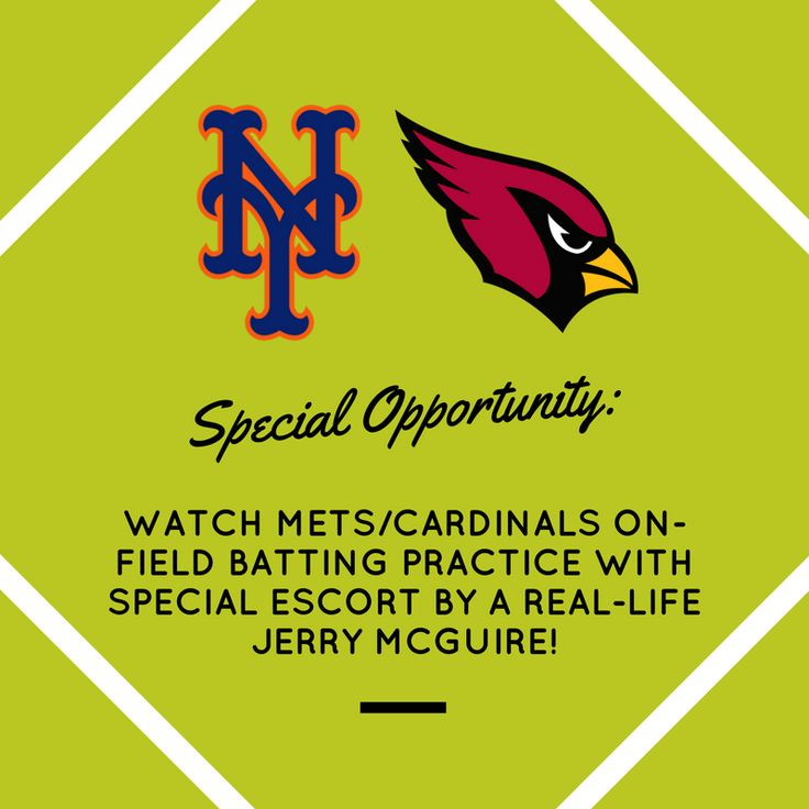 Don't miss this opportunity! All proceeds go toward sending a child in foster care to camp. $500 OR BEST OFFER. Choice of three dates: next Monday, Tuesday and Wednesday, July 17, 18 or 19.   You and two guests will get up close and personal with the Mets and Cardinals as you get a tour of the stadium and field. Chance to meet the 2nd ever navy academy graduate pro player, Mitch Harris, from the Cardinals. Message us if you are interested!