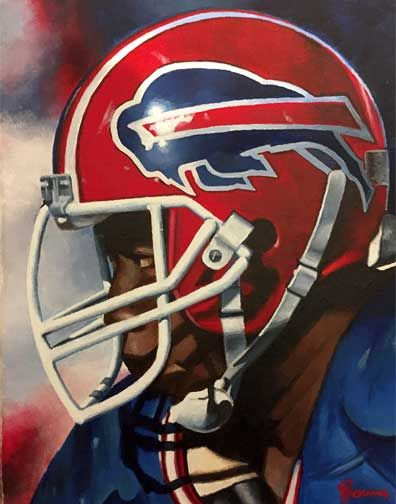 Thurman Thomas, Buffalo Bills by Dan Stromme