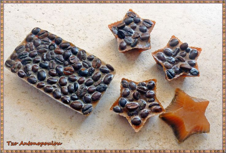 Coffee soap and star coffee samples!  Made by Tzo Antonopoulou