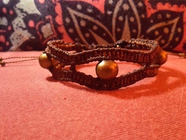 Makramee Macrame Armband Horusauge Hippie Boho Ethno