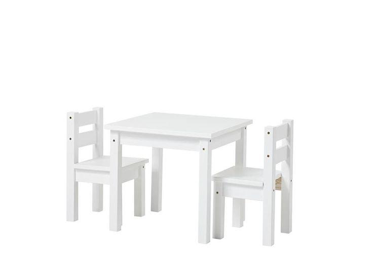 Kinder Sitzgruppe 3-Teilig, 2Stühle - 1 Tisch, Weiß, Hoppekids