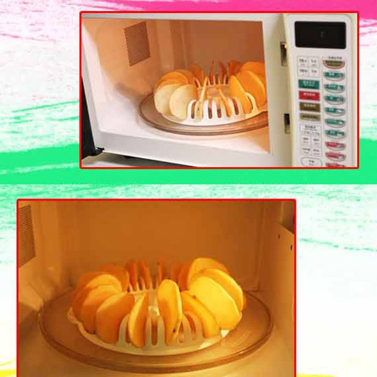 Home Kitchen DIY Microwave Oven Baked Potato Chips/Microwave Oven Grill Fat Free Potato Chips Maker Kitchen Accessories