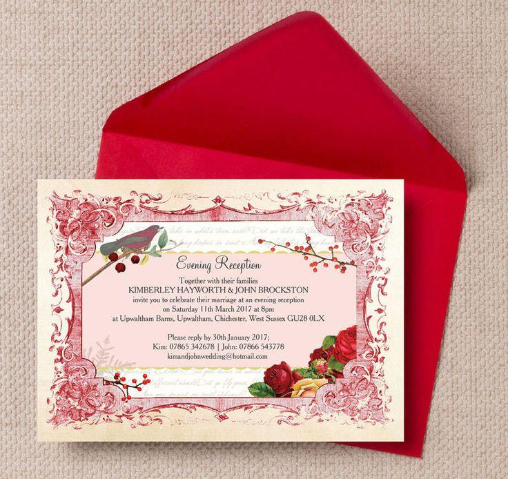 The 61 best beautiful evening wedding reception invitations images winter wonderland evening reception invitation stopboris Images