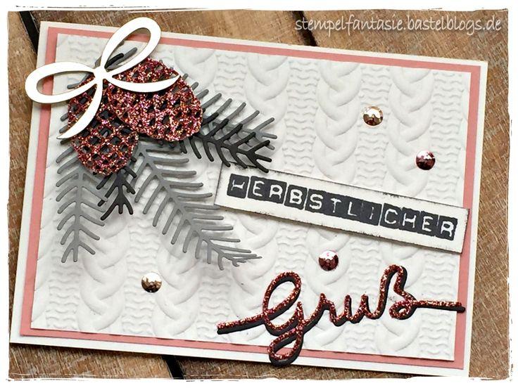 stampin up karte herbst card zopfmuster tannen zweige. Black Bedroom Furniture Sets. Home Design Ideas