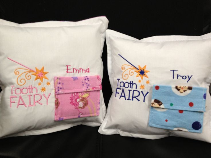 Tooth Fairy Pillow for Boys or Girls by PamsEmbroideryHouse, $15.00