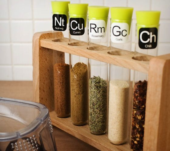 Scientific Spice Rack - http://thegadgetflow.com/portfolio/scientific-spice-rack-30/ If this isn't awesome, I don't know what is..