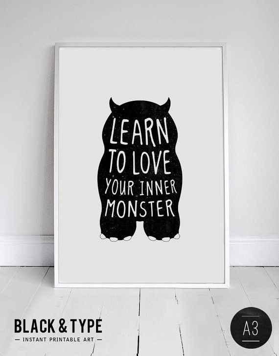 A3 INSTANT DOWNLOAD monster print birthday by blackandtypeshop, $9.00