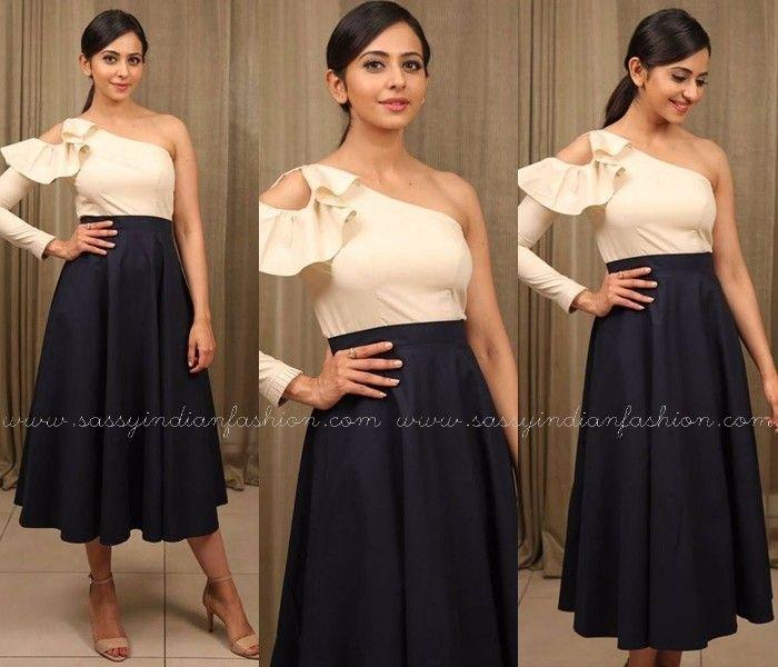 Rakul Preet Singh in Skirt and Tops, Rakul Preet Singh Skirt Outfits, Rakul Preet Singh Style.