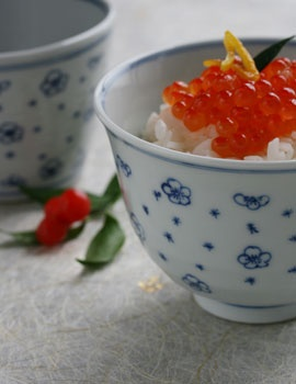 Taizan-gama flower bowl