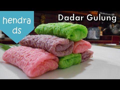Dadar Gulung - Resep Dadar Gulung (Dadar Gulung Isi Kelapa Gula Merah) - YouTube