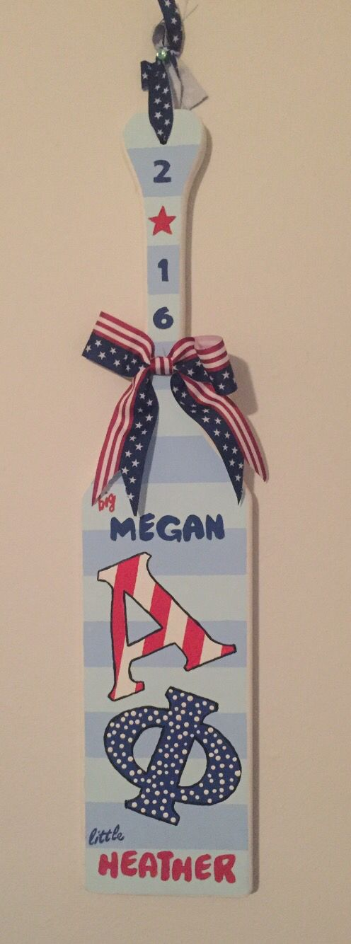 american themed big and little sorority paddle
