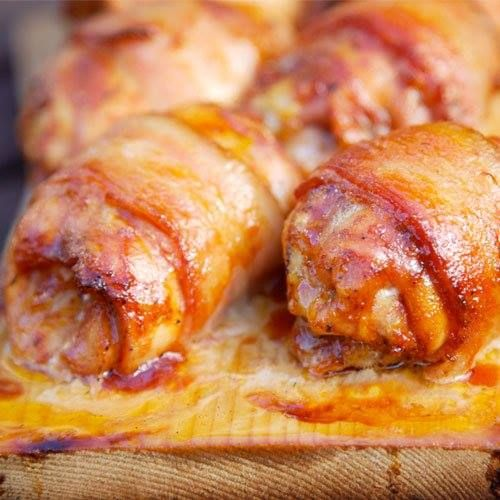 Bacon Wrapped Chicken with Jack Daniel's BBQ Sauce