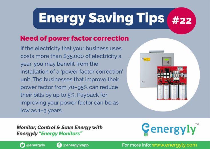 Energy Saving Tips 22 Need Of Power Factor Correction Energy Saving Tips Save Energy Saving Tips