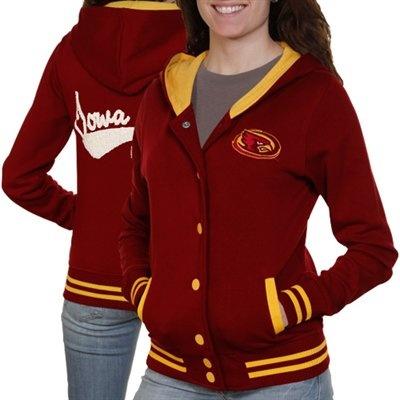 Iowa State Cyclones Ladies Cardinal Varsity Blues Full Button Hoodie Sweatshirt! Need this now!