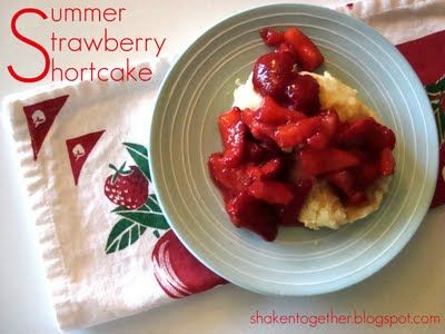 summer strawberry shortcake with homemade shortcake biscuits at shakentogetherlife.com