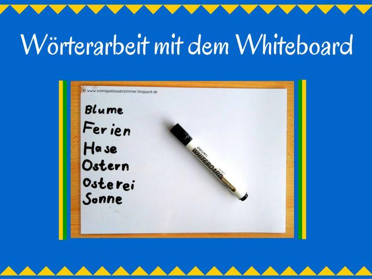 Whiteboard in der Grundschule Lernwörter üben