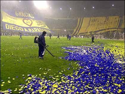 Hinchada de Boca -Copa Libertadores 2001