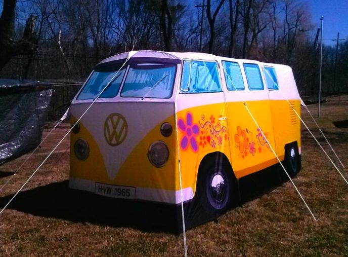 """We love getting photos from our customers!! Thanks for the awesome pic. """"Love my tent! And it never fails every time I set it up the compliments and picture taking never ends."""" #VWTent #VW #Tent #Camping"""