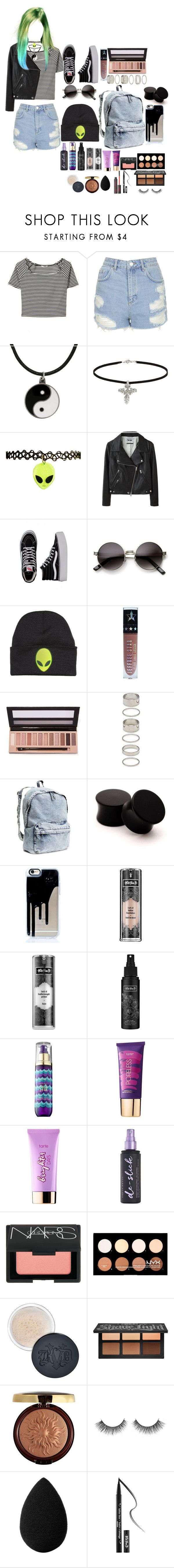 """""""What's My Age Again~Blink 182"""" by headbangingunicorn ❤ liked on Polyvore featuring Topshop, Carolina Glamour Collection, Acne Studios, Vans, ZeroUV, L.A. Girl, Forever 21, H&M, Kat Von D and tarte"""