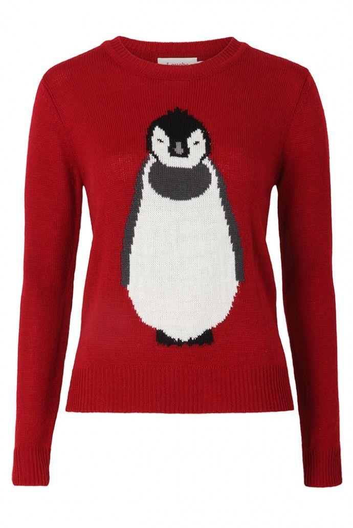 Louche Peridot Penguin Intarsia Jumper